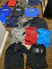 Boys Under Armour Clothing lot- Size Youth large - 15 Items In Total