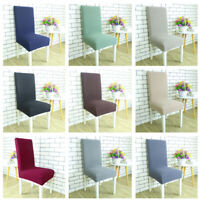 Dining Chair Covers Removable Stretch Fabric Wedding Party Decor Covers Seats