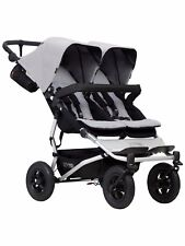 Mountain Buggy Duet Double Buggy V3 - Silver - FREE STORM COVER