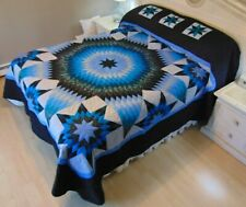 WOW!! NEW! AMISH HANDMADE QUILT! ~ Star in Stars ~ 110 x 119