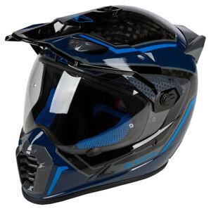 Klim Krios Pro Mekka Kinetik Blue Adventure Helmet