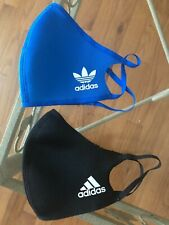 Authentic Adidas Face Cover Face Mask Black Blue Bird Size Medium/Large M/L