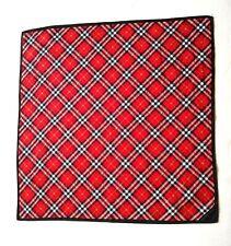 Burberry Bandana Pocket Square Handkerchief Neckerchief Nova Check Red VGC