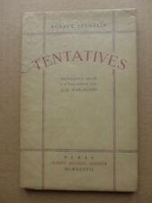 Robert Stéhelin - Tentatives  (poésies) /  1937 numéroté