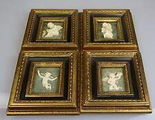 Relief Bild Goldrahmen Barrokrahmen Engel Putte 4 Stück
