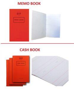 Silvine Cash/ Memo Book for Small Businesses Office Account Petty British Made