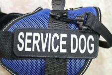 Active Dogs Service Vest Harness Size XL Blue with Service Dog Patches Made USA