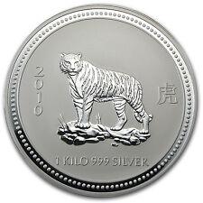 2010 Australia 1 kilo Silver Year of the Tiger BU (Series I) - SKU #26719