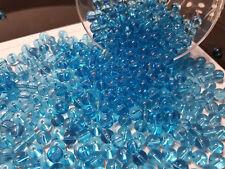 lot de 20 grosses perles rondes en verre 8mm TURQUOISE //9