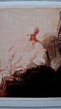 Rembrandt Callitype  France 1899 Le Vieillard 5.2x6