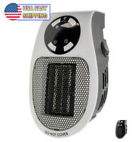 Portable Ceramic Mini Heater Wall Outlet Plug In Space Heater 400W Timer Digital