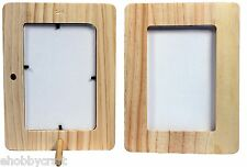 "4"" x 6"" Wood Picture Frame -Unfinished 1/2"" Thick w/Peg Stand -Great for Crafts"