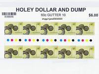 2013 - Australia - Holey Dollar & Dump - 60¢ gutter strip of 10 - MNH