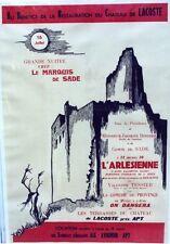"""""""L'ARLESIENNE au CHATEAU DE LACOSTE 1955"""" Affiche originale entoilée (DOUKING)"""