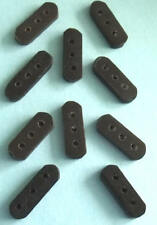 10 x 3 Hole Hand Carved Black Horn Bead Dividers/Spacers - Native American Craft
