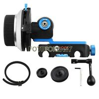 FOTGA DP3000 DSLR QR Clamp A/B Stops Follow Focus for 15mm Rod+Speed Crank+Gears