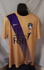 Al Ain FC 2016/17 Nike Authentic Away Jersey (Gold/Purple, Sz L) Football Soccer