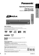 Panasonic DMR-EZ47VEB DVD Recorder Owners Instruction Manual