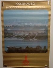 Original Vintage Travel Poster 1980 Olympics Moscow