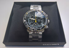 Seiko SNA411P1 Herrenuhr | Uhr Chronograph Flightmaster Armbanduhr Fliegeruhr