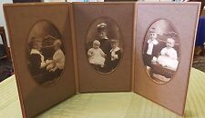 "4X6"" Antique 3 Section BABIES w MOTHER Photo Gallery Paper Frame Scrapbook Photo"