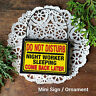 Door Hanger - Wood  Mini Tiny Sign DO NOT DISTURB NIGHT WORKER Sleeping New USA