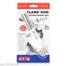 New Gas Torch Welding Fire Maker Lighter Butane Burner Flame Gun Camping Wht UK