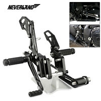 For SUZUKI GSXR600/750 2006-2010 Rearset Foot Rest Peg Pedal Rear Set Kit CNC US