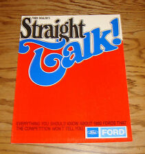 Original 1980 Ford Straight Talk Full Line Sales Brochure 80 Mustang Thunderbird