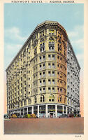 Atlanta Georgia 1920s Postcard Piedmont Hotel