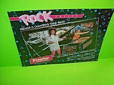 Gottlieb Premier ROCK ENCORE Original Flipper Game Pinball Machine Promo Flyer