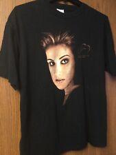"""Celine Dion - """"Let's Talk About Love"""" World Tour - 1998 Black Shirt.  XL."""