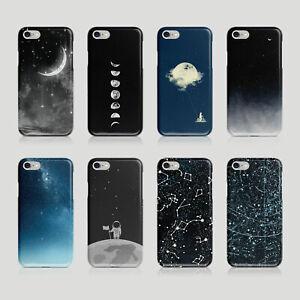 iPhone Samsung Hard Phone Case Star Galaxies Moon Universe