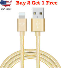 Heavy Duty Braided USB Cable Data Sync Charging Cable for with iPhone X/8/7/6/5