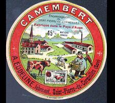 """SAINT-PIERRE DE CORMEILLES (27) ETIQUETTE DE FROMAGE Camembert """"A. EUDELINE"""""""