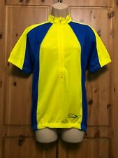 CRANE WOMENS YELLOW & BLUE CYCLING JERSEY SIZE 12/14