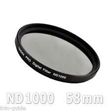 Nd1000 filtro gris 58mm density Grey Tridax pro digital