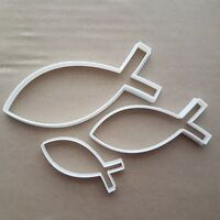 Ichthys Symbol Christian Religion Fish Shape Cookie Cutter Dough Fondant Sharp
