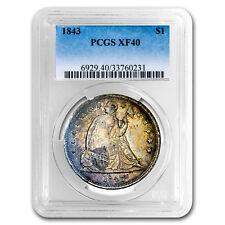 1843 Liberty Seated Dollar XF-40 PCGS - SKU#98066