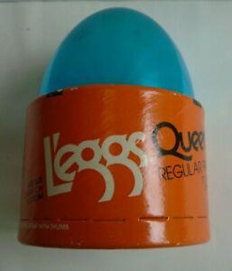 Sealed Vintage 1980's Leggs Queensize Taupe Regular Pantyhose Blue Egg