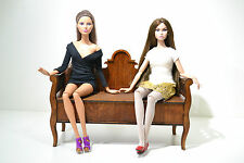 NEW Sofa Divan Bed furniture for dolls 12 in Barbie house 1/6 FR Poppy Wooden