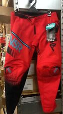 Answer Racing A17 Sycron MX Pants 471748 Youth 28 Red / Teal, Motocross Offroad