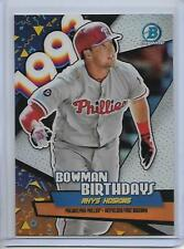 2018 Bowman Rhys Hoskins Chrome Bowman Birthdays Insert Card