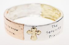 Serenity Prayer Christian Bible Scripture Silver Tone Stretch Bracelet