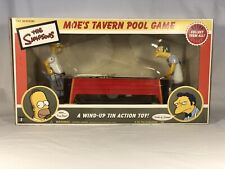The Simpsons Moe's Tavern Tin Toy Wind Up Pool Game Collectible
