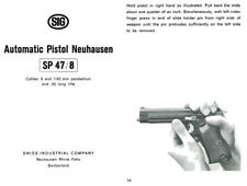 SIG P210-c1946 Automatic Pistol Neuhausen SP 47-8 Manual