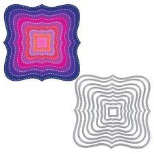 9pcs/Set Square Wave Cutting Dies Stencils DIY Scrapbook Album Paper Card Craft