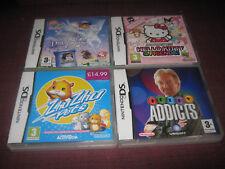 4 x Nintendo DS Games Zhu ZHu Pets/Dora Snow Princess/Hello Kitty/Telly Addicts
