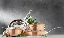 Calphalon Signature Tri Ply Brushed Copper 10 Piece well Crafted Cookware Set