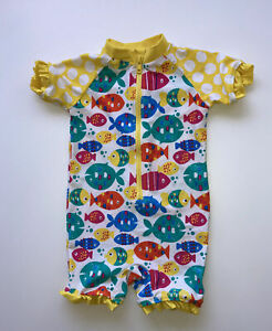 Baby Girl 12-18 Months All In One Swimsuit